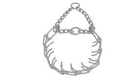 Stingrā kakla siksna ar dzelkšņiem un ķēdi, 64 cm, īpaši izturīga.