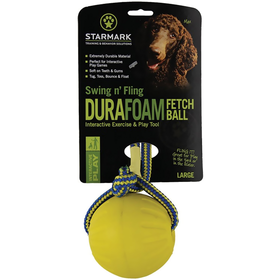StarMark Swing&Fling DuraFoam Fetch Ball – neticami izturīga bumba no lietas putotās gumijas