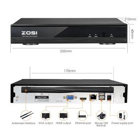 ZOSI 4CH NVR ar 4 bezvadu Megapixel 960P kamerām