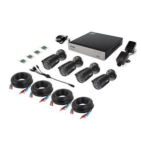 Комплект состоит из 4-х видеокамер и видеорегистратора.