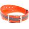 Plastmasas kakla siksna - oranža, gaismu atstarojoša 25mm x 70cm