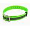 Ошейник пластиковый зеленый, светоотражающий, 25 мм х 70 см